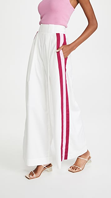 Aje Psychedelia Wide Leg Stripe Trousers