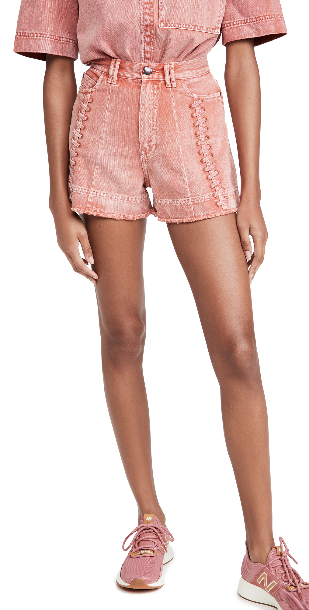 Aje Framework Denim Shorts