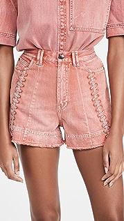 Aje Framework Denim Shorts