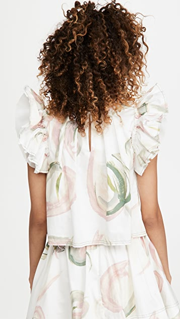 Aje Imprint Cropped Top