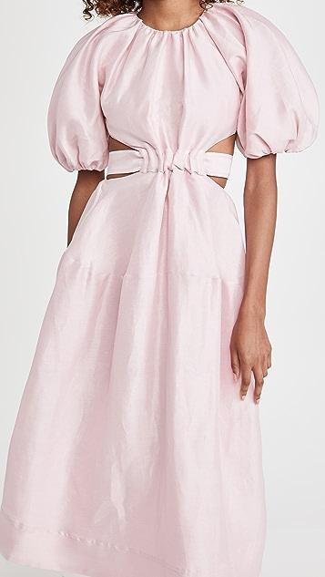 Aje Mimosa Cutout Midi Dress