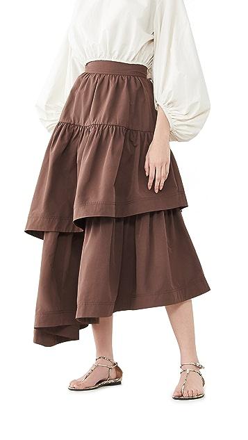 Aje Interlace Midi Skirt