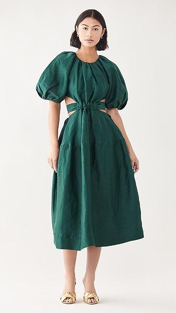Aje Mimosa 镂空中长连衣裙