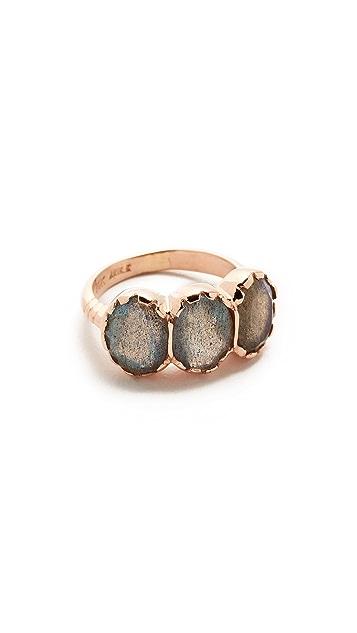 Arik Kastan Three Stone Oval Ring