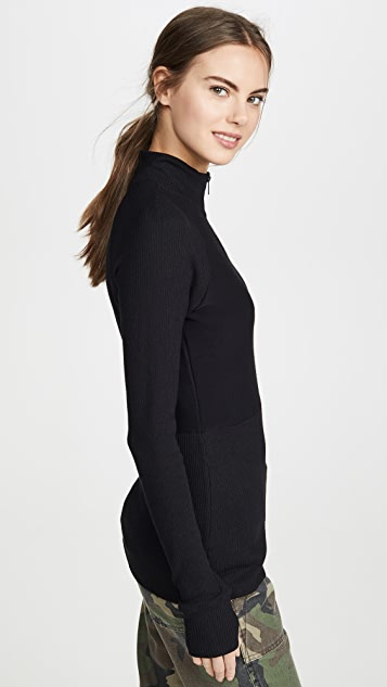 ALALA Rise Quarter Zip Sweater