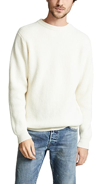 Albam Ribbed Crew Neck Sweater