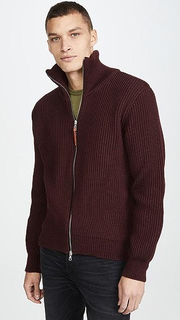 Albam Chunky Ribbed Full Zip Cardigan