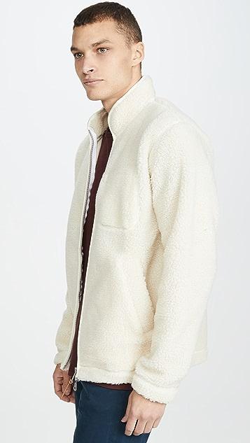 Albam Zipped Curly Fleece Full Zip Jacket