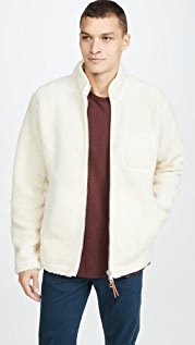 Albam Zipped Curly Fleece Full Zip Jacket