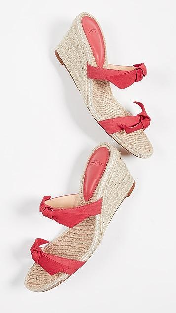 Alexandre Birman Clarita 编织底坡跟绑带凉鞋