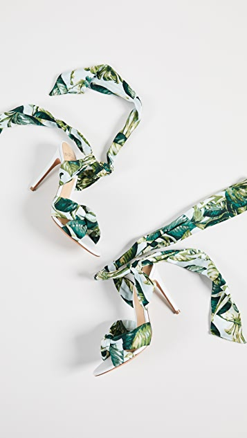 Alexandre Birman Сандалии Kacey на каблуках высотой 100мм с завязками вокруг щиколотки