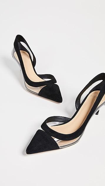 Alexandre Birman Виниловые туфли-лодочки Wavee на каблуке «рюмочка»