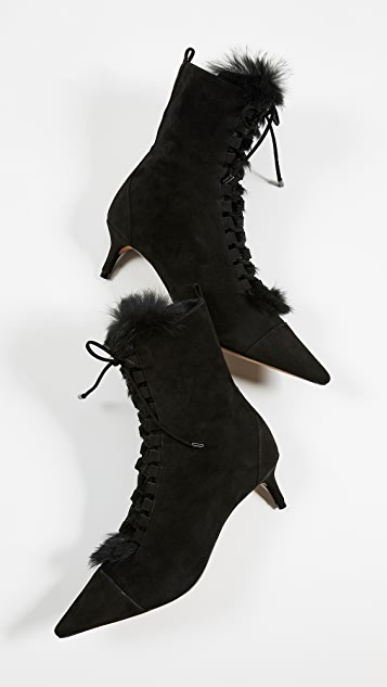 Alexandre Birman Millen Fur Booties