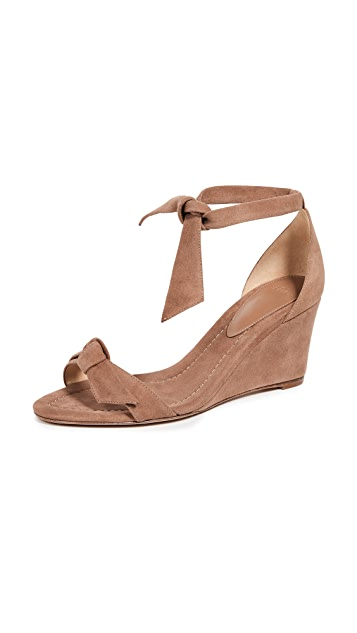 Alexandre Birman Clarita Demi 75mm Wedge Sandals