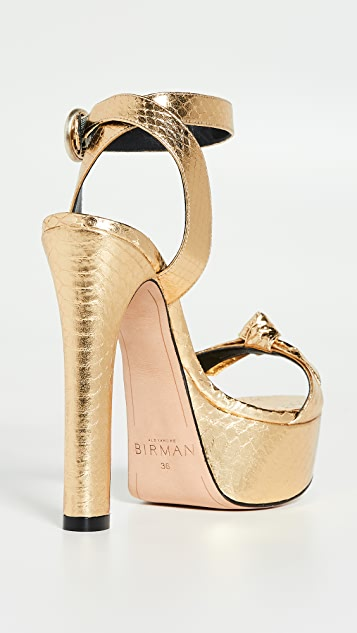 Alexandre Birman Clarita Evening Plateau Exotic Sandals