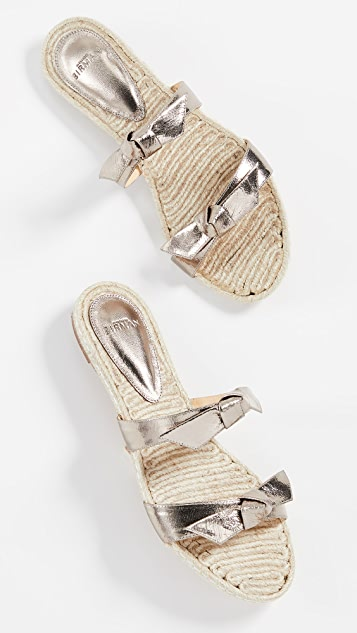 Alexandre Birman Clarita Braided Flat Sandals
