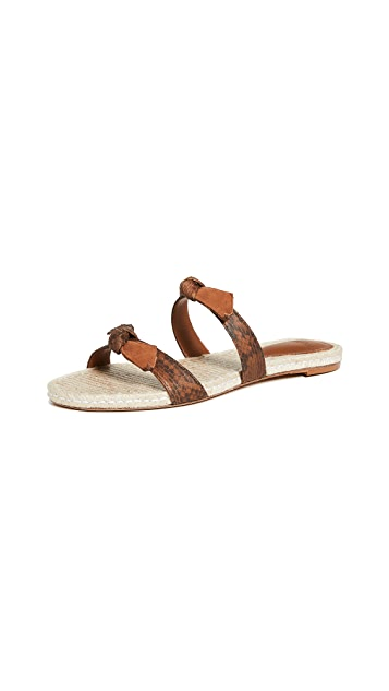 Alexandre Birman Clarita Braided Flat Exotic Slides
