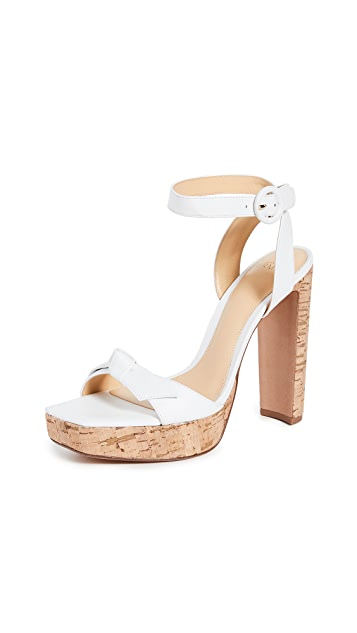 Alexandre Birman Clarita Plateau Square Sandals 120mm