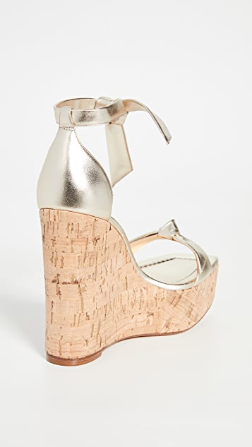 Alexandre Birman Clarita Square Wedge Sandals 130mm