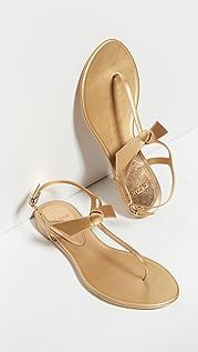 Alexandre Birman Clarita 金属色果冻凉鞋