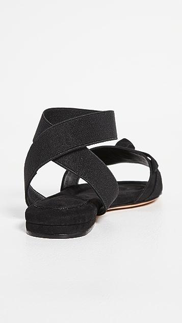 Alexandre Birman Clarita 弹性平底凉鞋