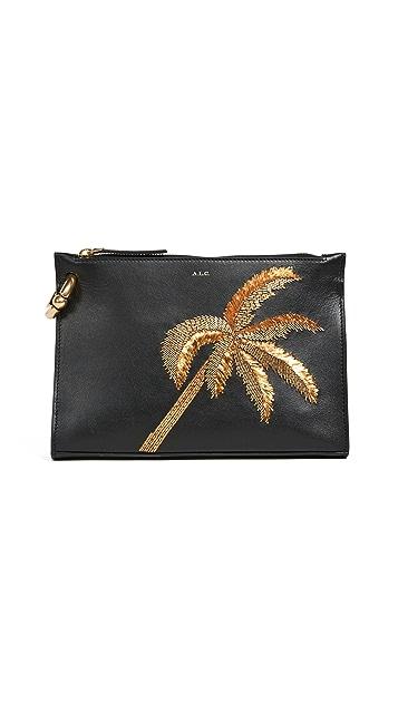 A.L.C. Joni Palm Tree Clutch