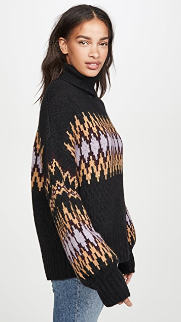 A.L.C. Tracey Alpaca Fair Isle Sweater