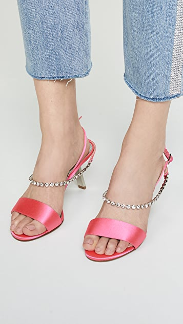 Alchimia di Ballin Атласные сандалии Strass