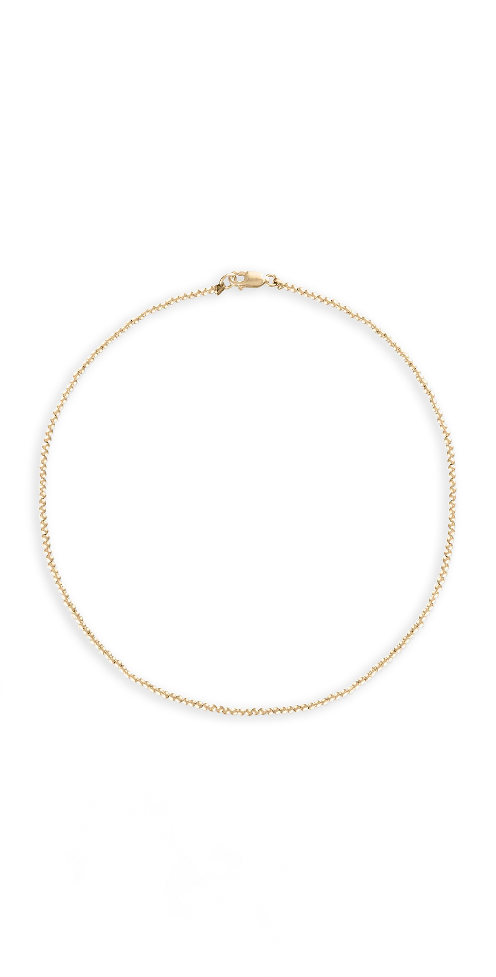 2mm Yellow Gold Necklace