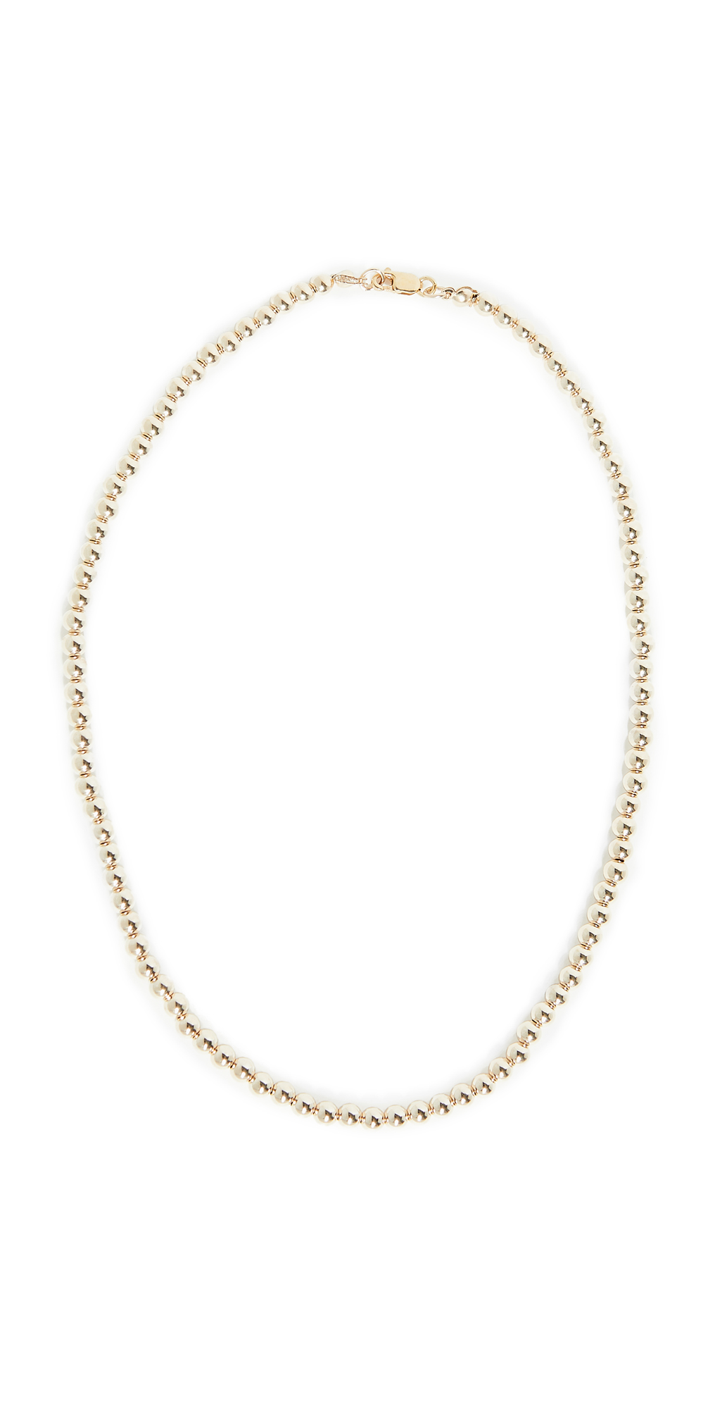 4mm Yellow Gold Necklace