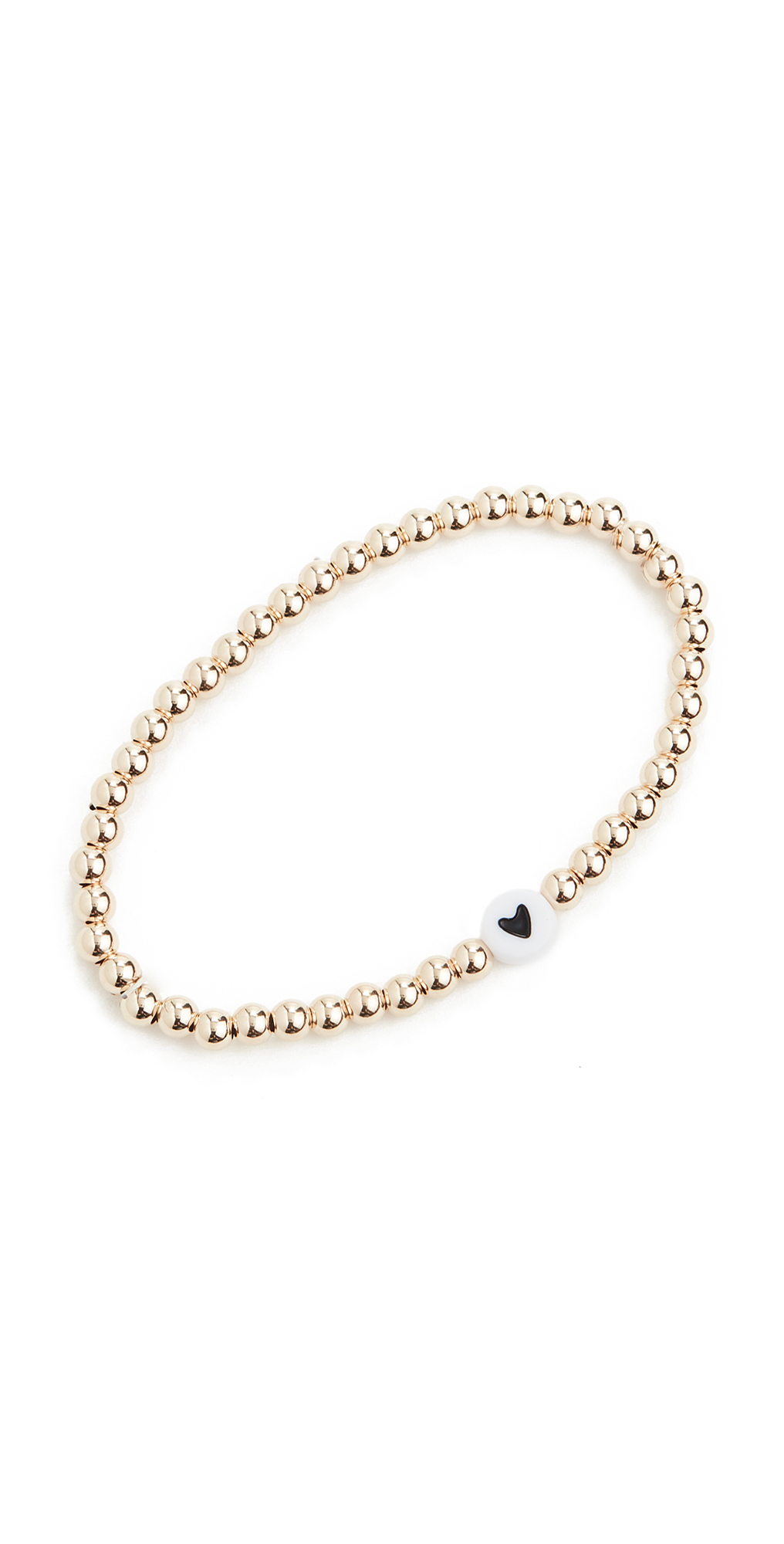 4mm Black Heart Bracelet