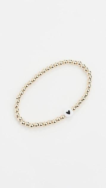 Alexa Leigh 4mm Black Heart Bracelet