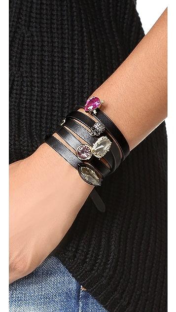 Alexis Bittar Custom Gemstone Wrap Bracelet