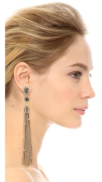 Alexis Bittar Cascading Crystal Clip On Tassel Earrings
