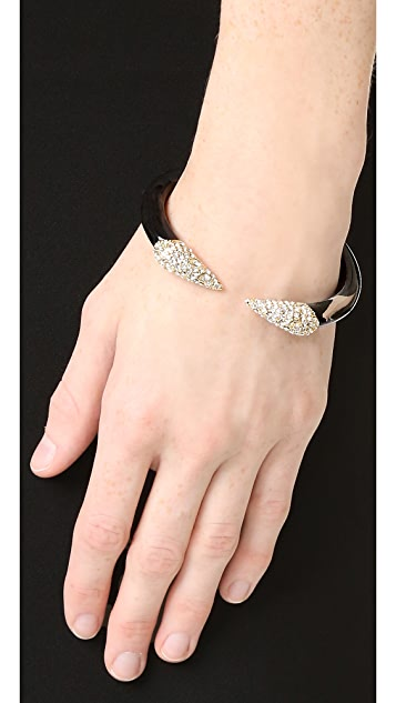 Alexis Bittar Encrusted Pyramid Brake Hinge Bracelet