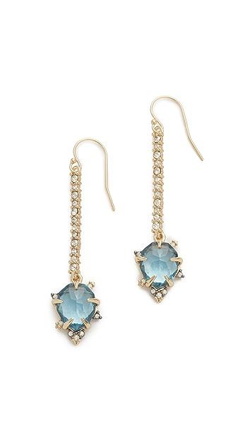 Alexis Bittar Custom Gemstone Linear Drop Earrings