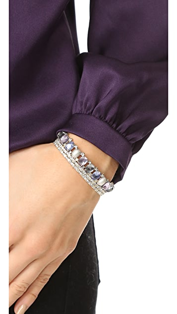 Alexis Bittar Crystal Lace Cuff with Custom Cut Stones