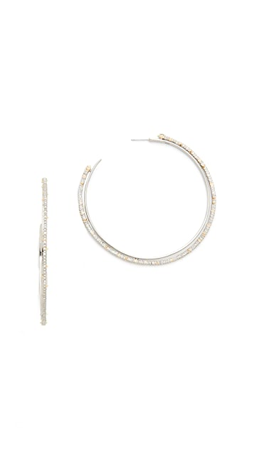 Alexis Bittar Crystal Lace Orbiting Hoop Earrings