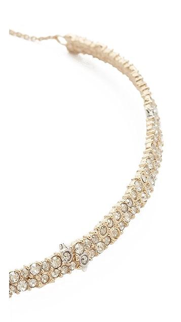 Alexis Bittar Crystal Spike Choker Necklace
