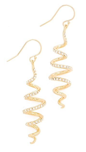 Alexis Bittar Crystal Coil Wire Earrings