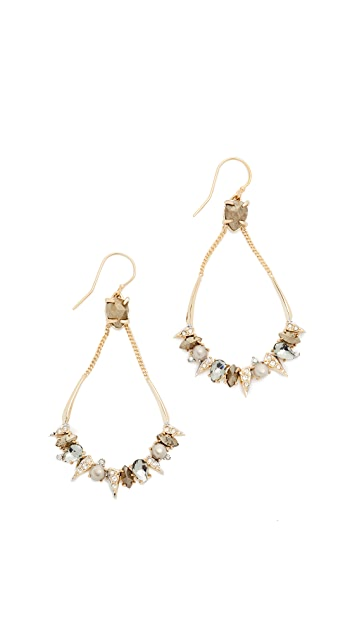 Alexis Bittar Crystal Mosaic Futurist Tear Earrings