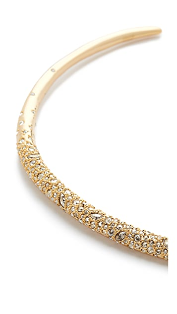 Alexis Bittar Crystal Encrusted Thin Collar Necklace