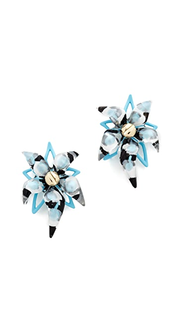 Alexis Bittar Abstract Flower Screw Earrings