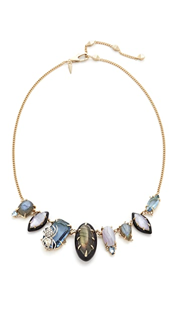 Alexis Bittar Crystal Encrusted Spider Bib Necklace