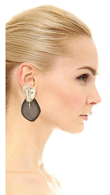 Alexis Bittar Satellite Crystal Spike Clip On Earrings