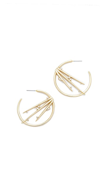Alexis Bittar Satellite Crystal Spike Hoop Earrings