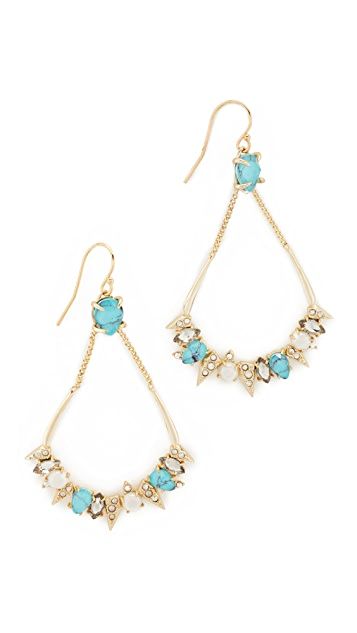 Alexis Bittar Pavé Spike Stone Cluster Earrings