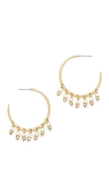 Alexis Bittar Crystal Lace Chandelier Hoop Earrings
