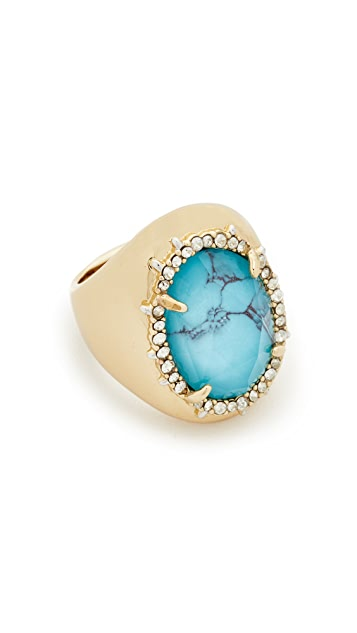 Alexis Bittar Crystal Encrusted Custom Stone Ring