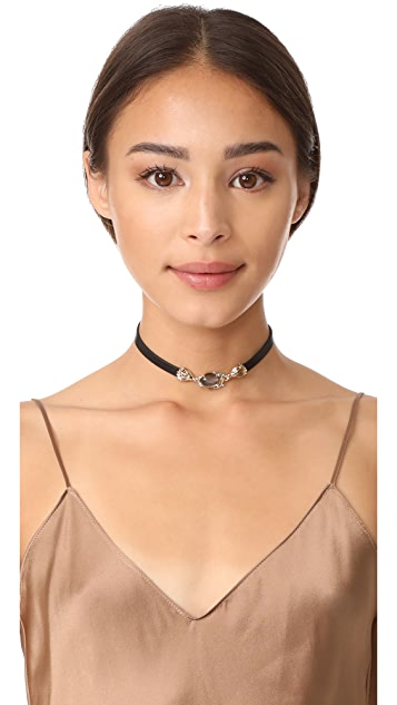 Alexis Bittar Golden Array Choker Necklace